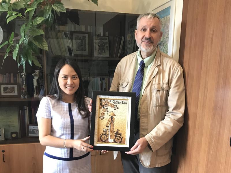 Встреча в ВШ МОП с представителем Хошиминского государственного педагогического университета