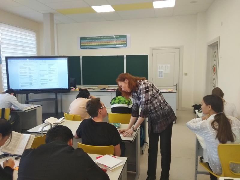 Посещение школы «Газпром - Кыргызстан» в рамках национального проекта «Образование»